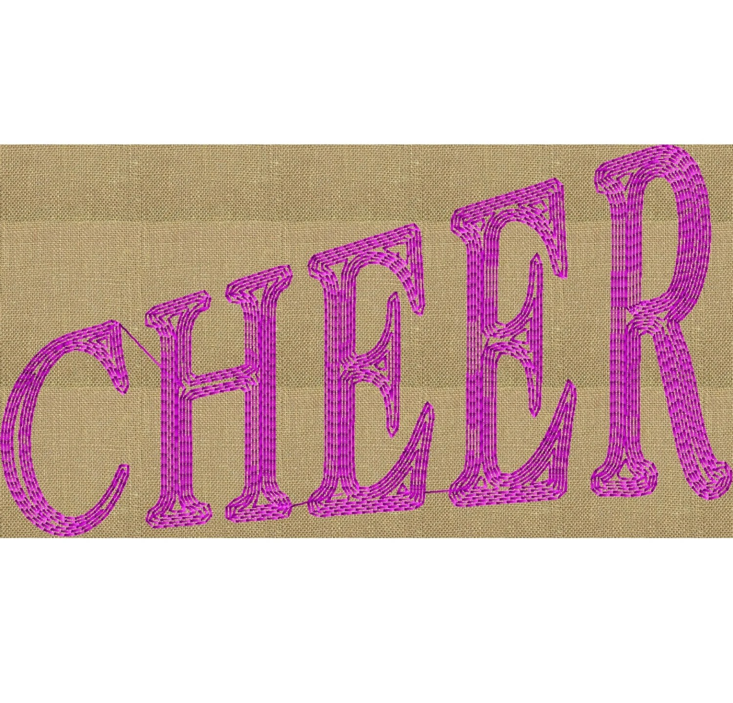 Cheer word Monogram Embroidery Design Font not included Etsy - word design frames