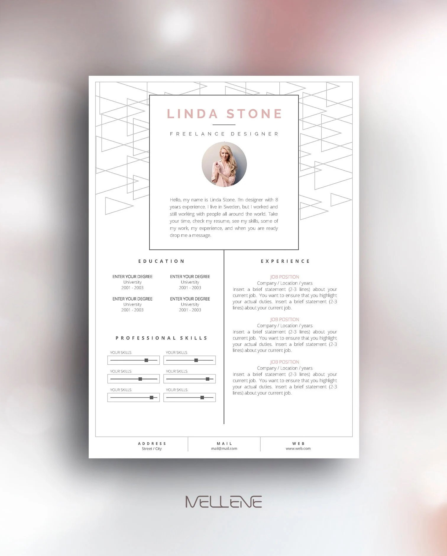Resume Template 3 page / CV Template Cover Letter / Instant Etsy