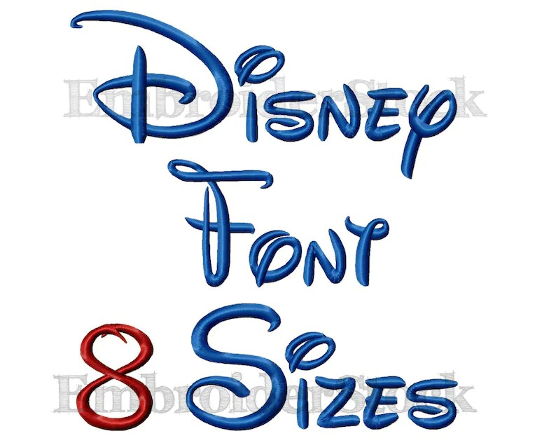 Walt Disney Font Machine Embroidery Design Alphbet Disney Etsy