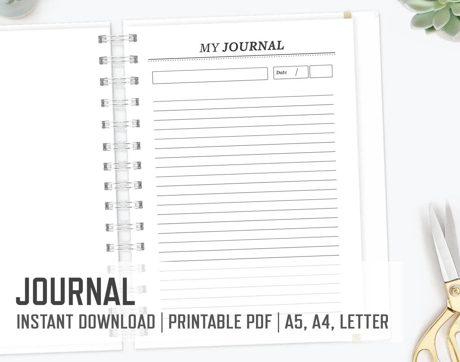 Journal Diary / Personal Day Journal Personal Reflection Etsy