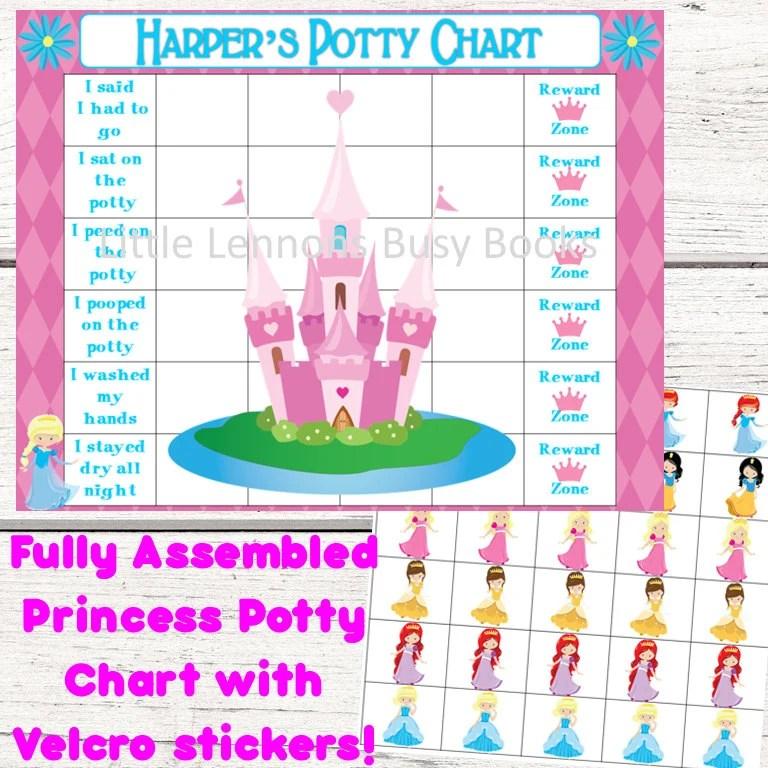 Princess Potty Chart Potty training chart reward chart Etsy