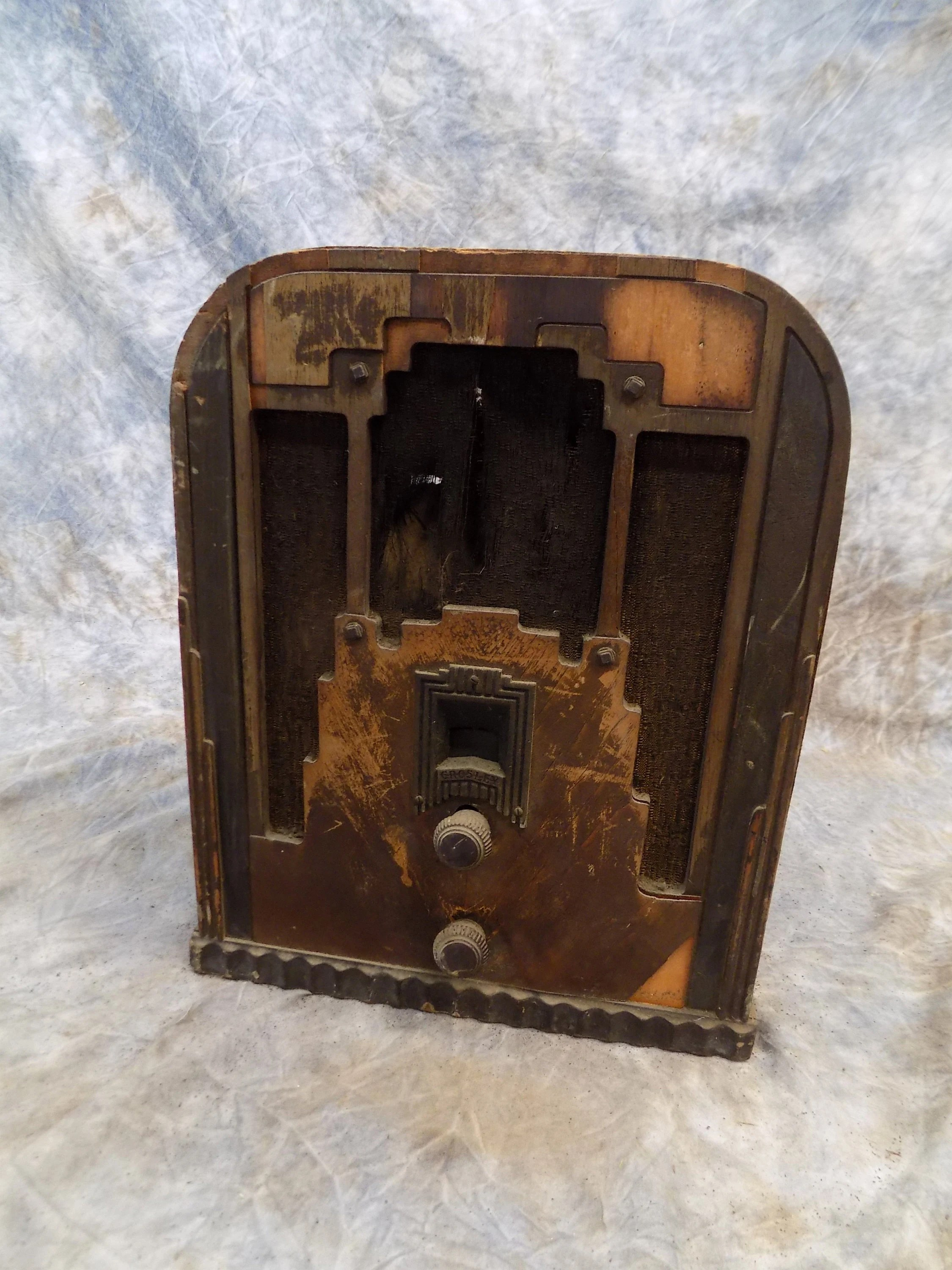 Crosley Radio 1934 Crosley Tube Radio Model 148 New Fiver Art Deco Tombstone Vintage Vintage Tube Radio Crosley Radio Vintage Radio