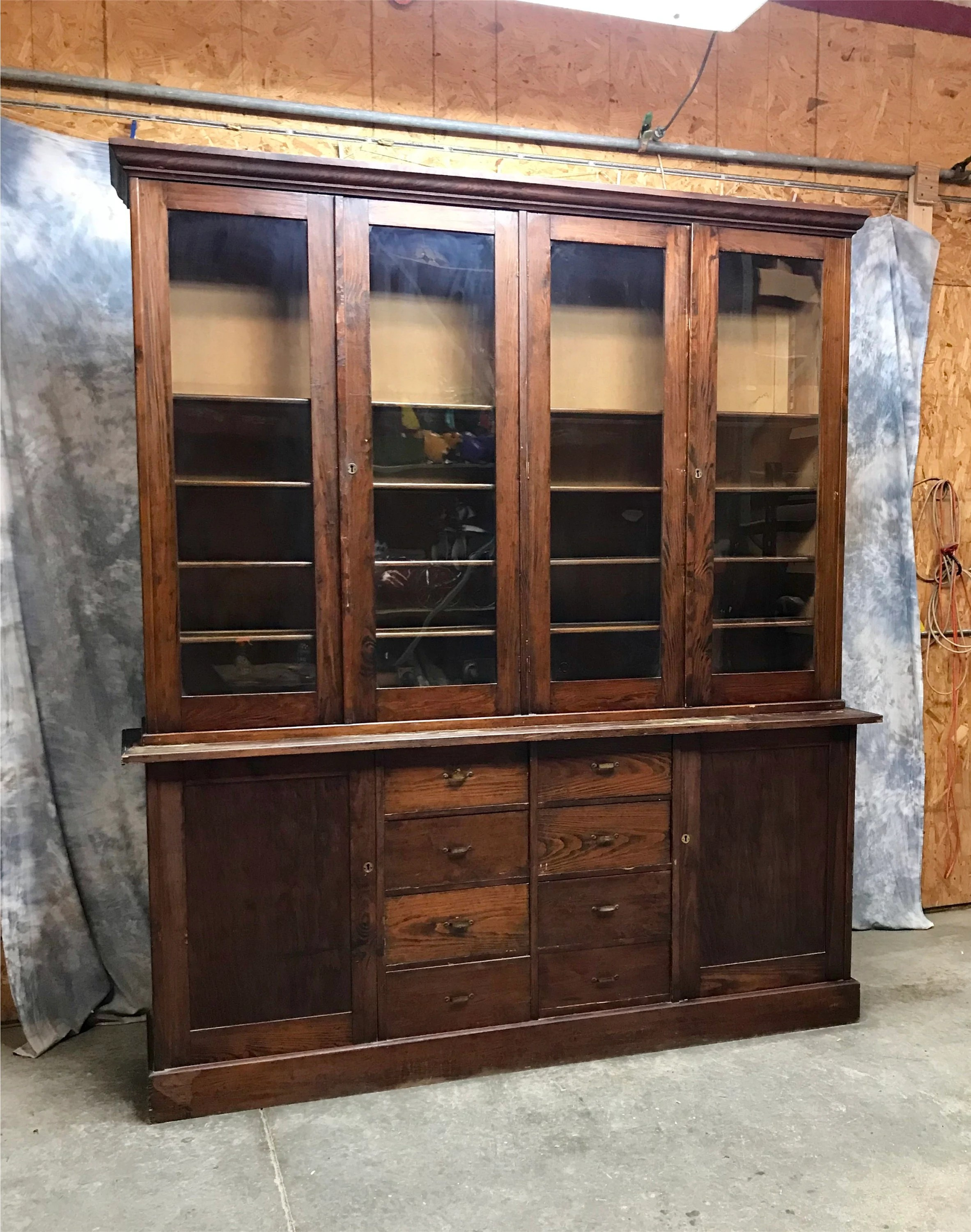 Bookcase Cabinet 8 Antique Display Cabinet Glass Doors Bookcase China Cabinet Curio Cabinet Glass Bookcase Kitchen Cabinet Apothecary Cabinet Pharmacy