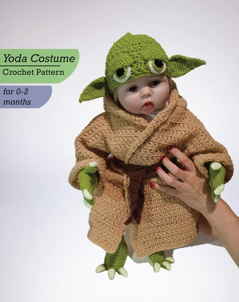 Libros Star Wars Pdf Infant Yoda Crochet Costume Pattern Pdf Star Wars Baby Costume Newborn Baby Crochet Pattern Yoda Baby Costume Star Wars Pattern