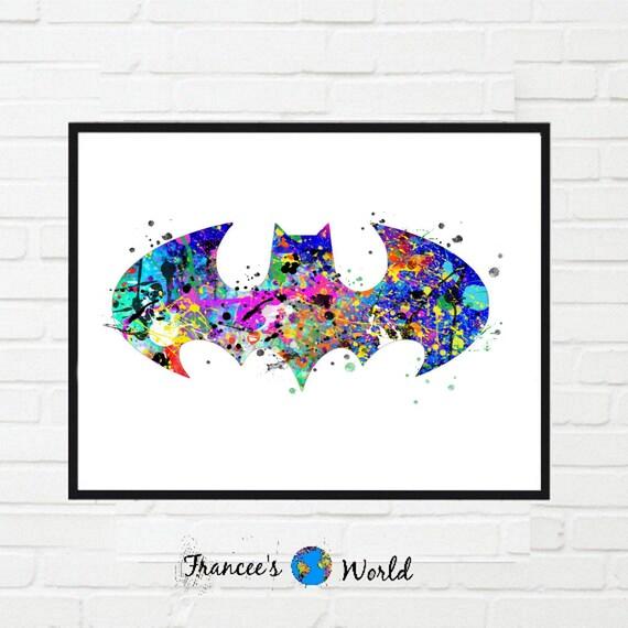 Batman Gift Printable Art-batman sign print, batman symbol print