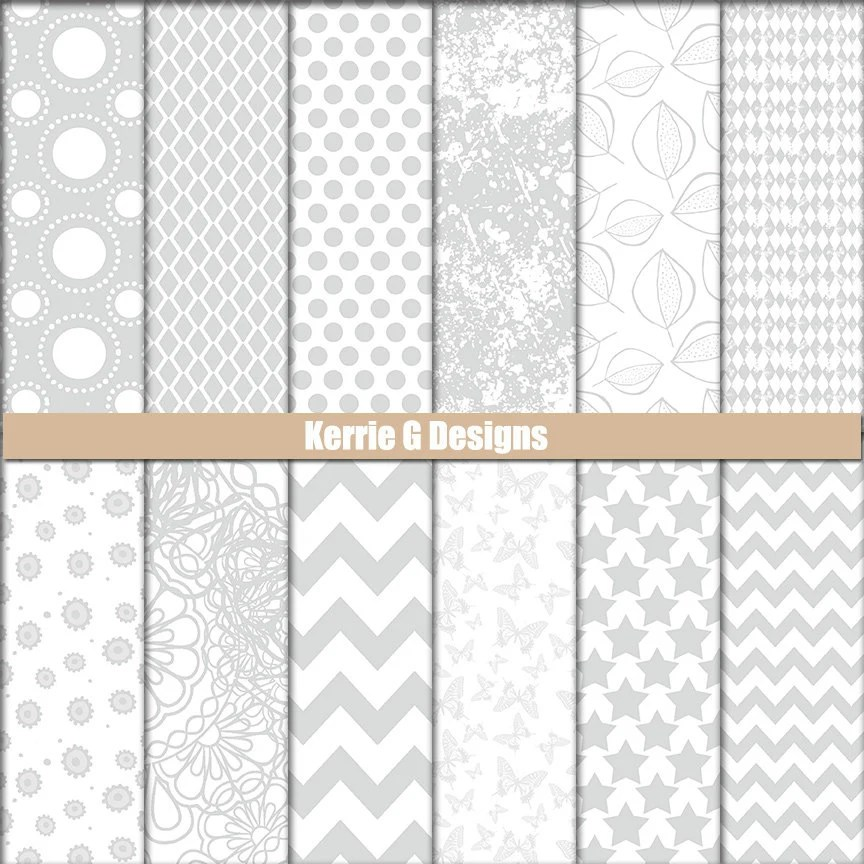 Grey Downloadable Paper Grey Printable Cardstock Grey and Etsy - printable cardstock