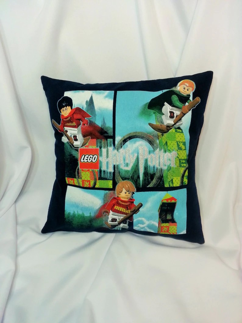 Angry Birds Bettwäsche Lego Harry Potter T Shirt Made Into A Decorative Pillow Cover Fantastical Movie Bedding Made From Lego Harry Potter Shirt Wizard Decor