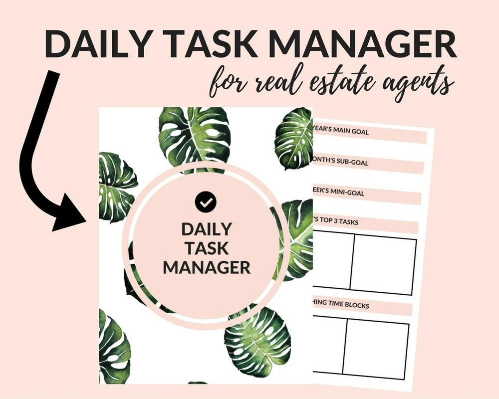 Daily Task Manager for Real Estate Agents Real Estate Etsy