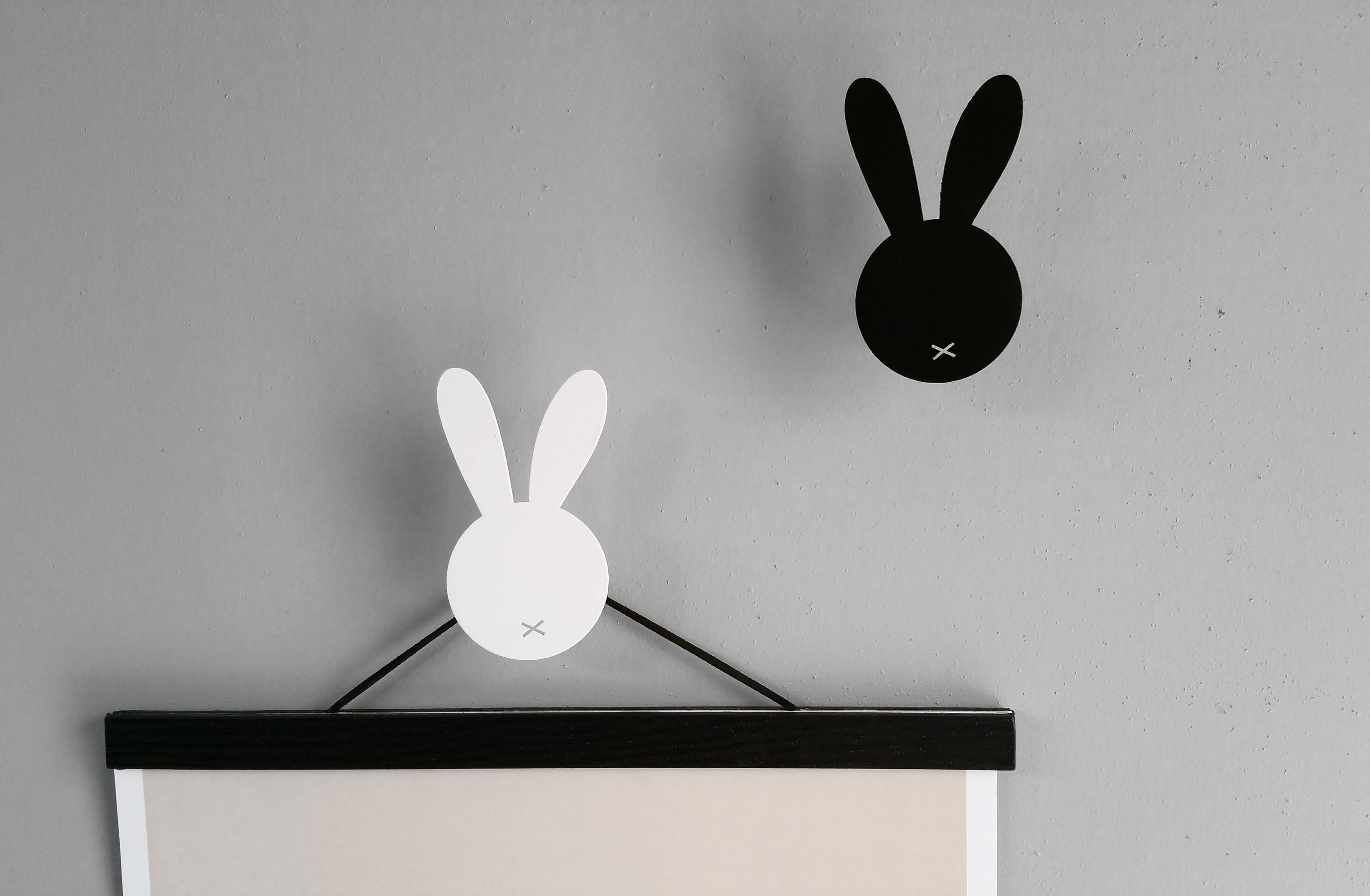 Black Wall Hooks Rabbit Wall Hooks Bunny Wall Hook Nordic Wall Decor Nursery Wall Hooks Nursery Scandinavian