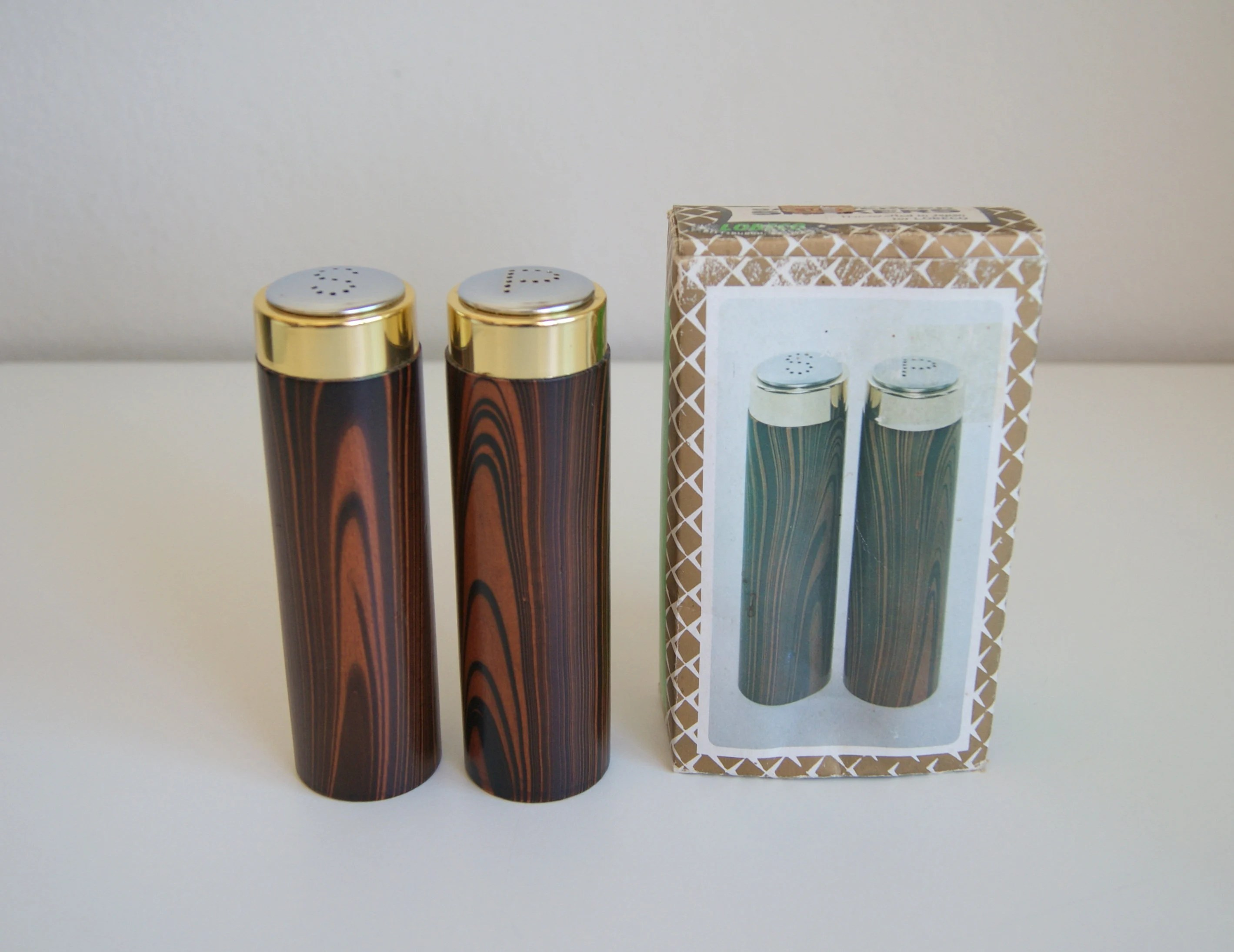 Modern Salt Pepper Shakers Handcrafted Pair Of Vintage Modern Salt Pepper Shakers By Lobeco Japan Nos