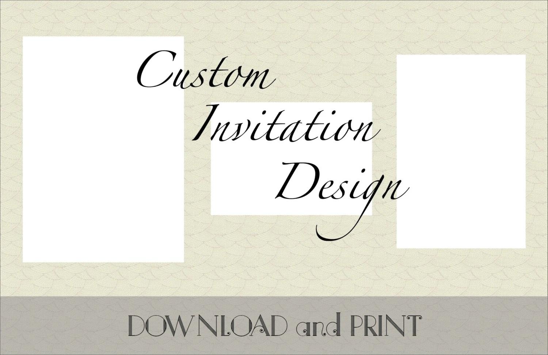 Printable Custom Wedding Invitation Response Card and Etsy