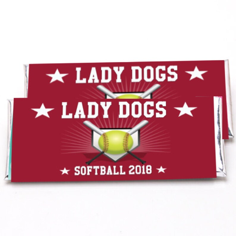 Softball Hershey Wrappers Custom Designed Candy Bar Etsy