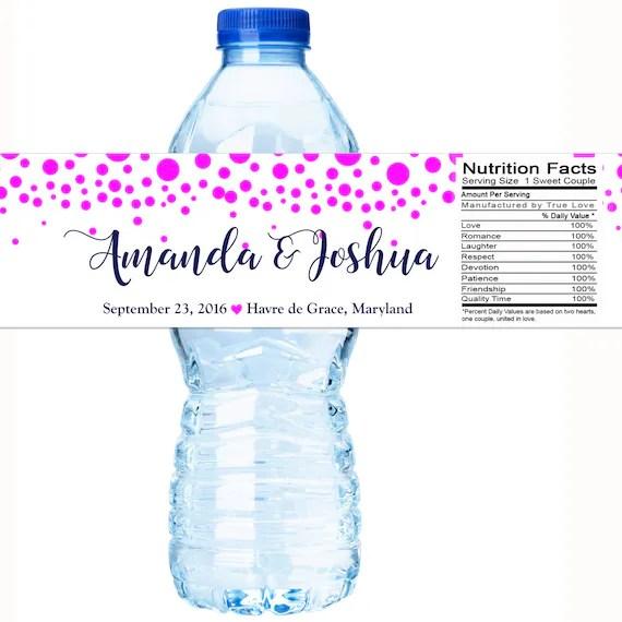 Wedding Water Bottle Labels, Personalized Water Bottle Labels