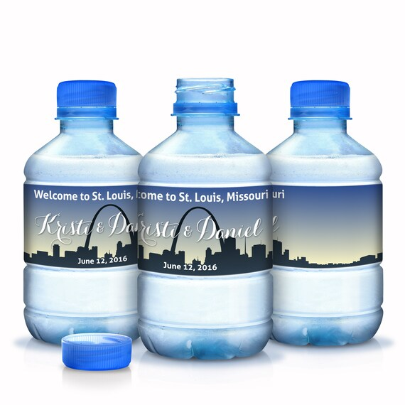 Bottled Water Labels - 30 Wedding Water Bottle Labels - Welcome to
