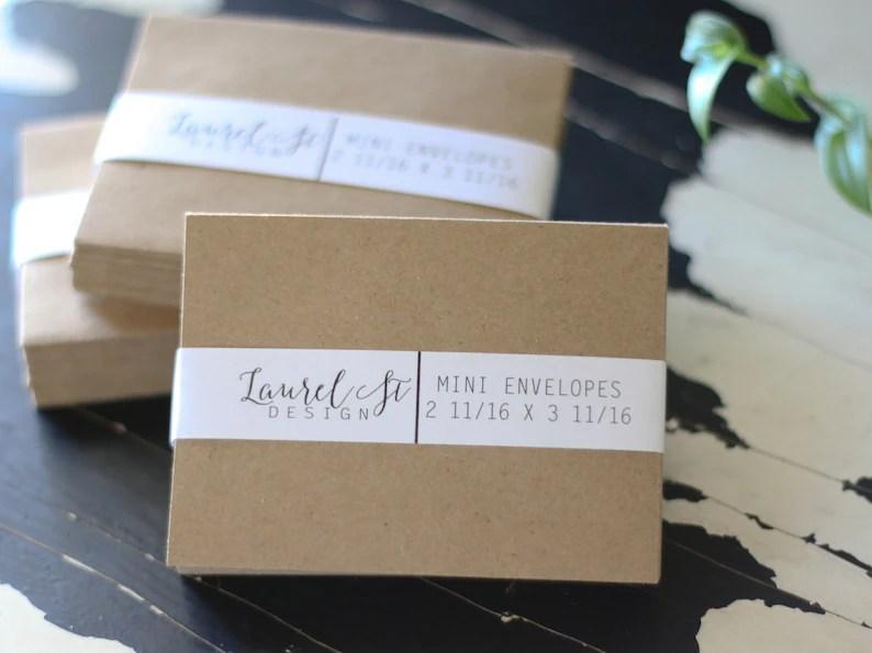 Kraft Brown Mini Envelopes Grocery Bag Mini Envelope Size Etsy