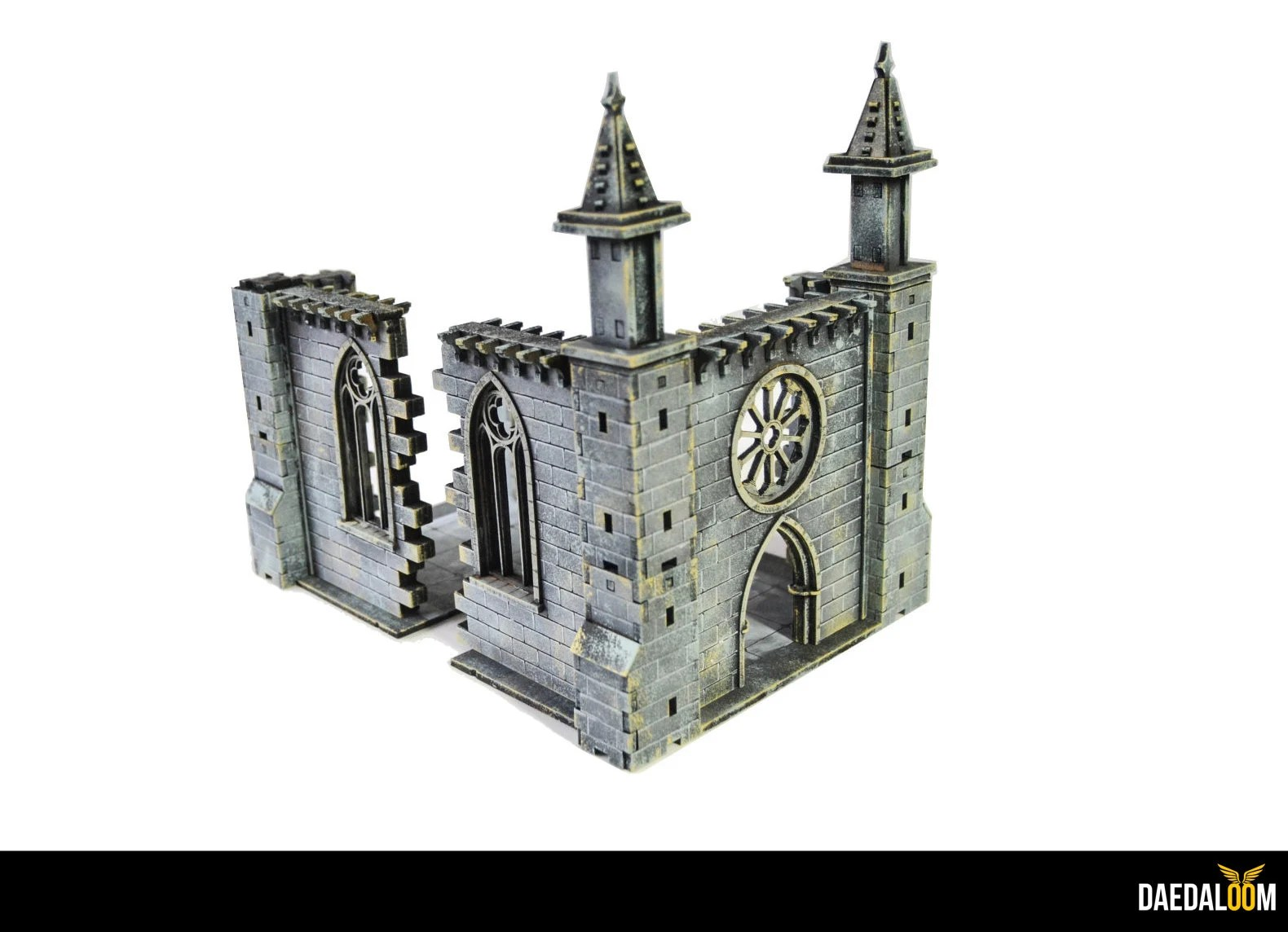 Peindre Decor Warhammer Ruined Chapel For Warhammer Mordheim Frostgrave 28mm Miniature
