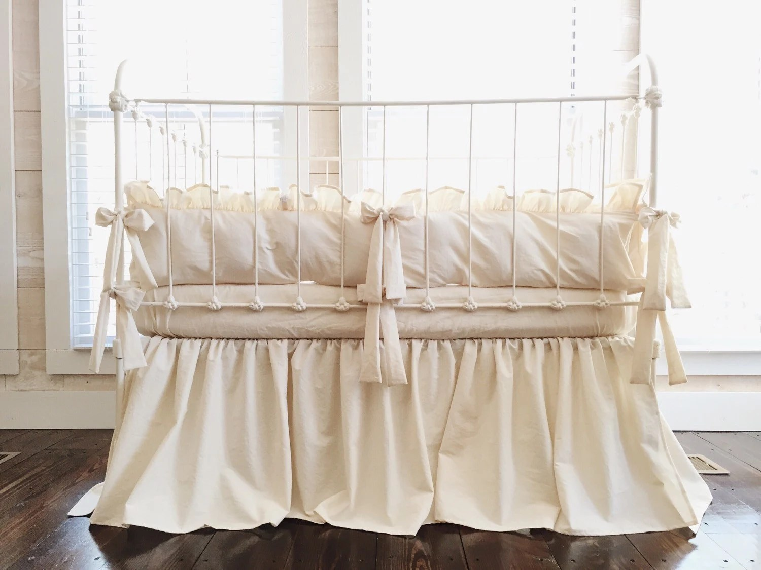 Full Crib Bedding Sets Natural Farmhouse Crib Bedding Set Neutral Baby Bedding Neutral Nursery Bedding By High Cotton Textile