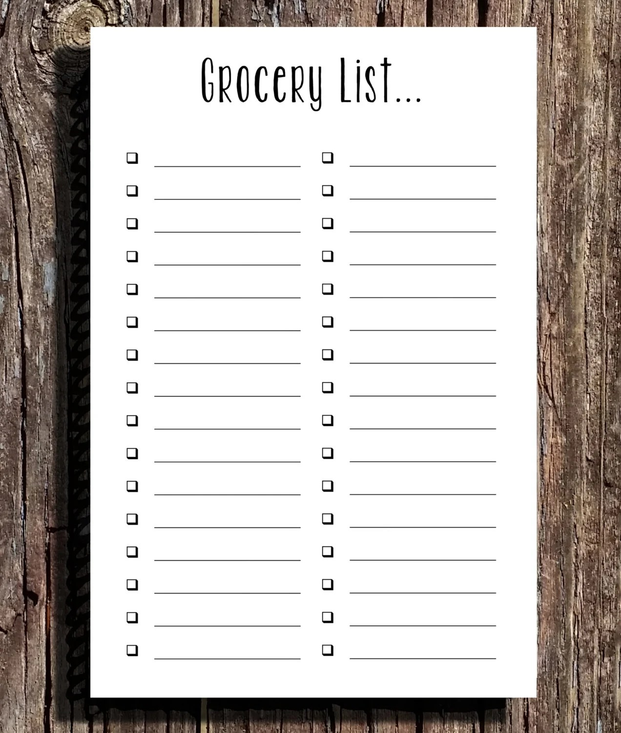 Grocery List Notepad Set of Two 55x85 Notepad 50 sheets Etsy
