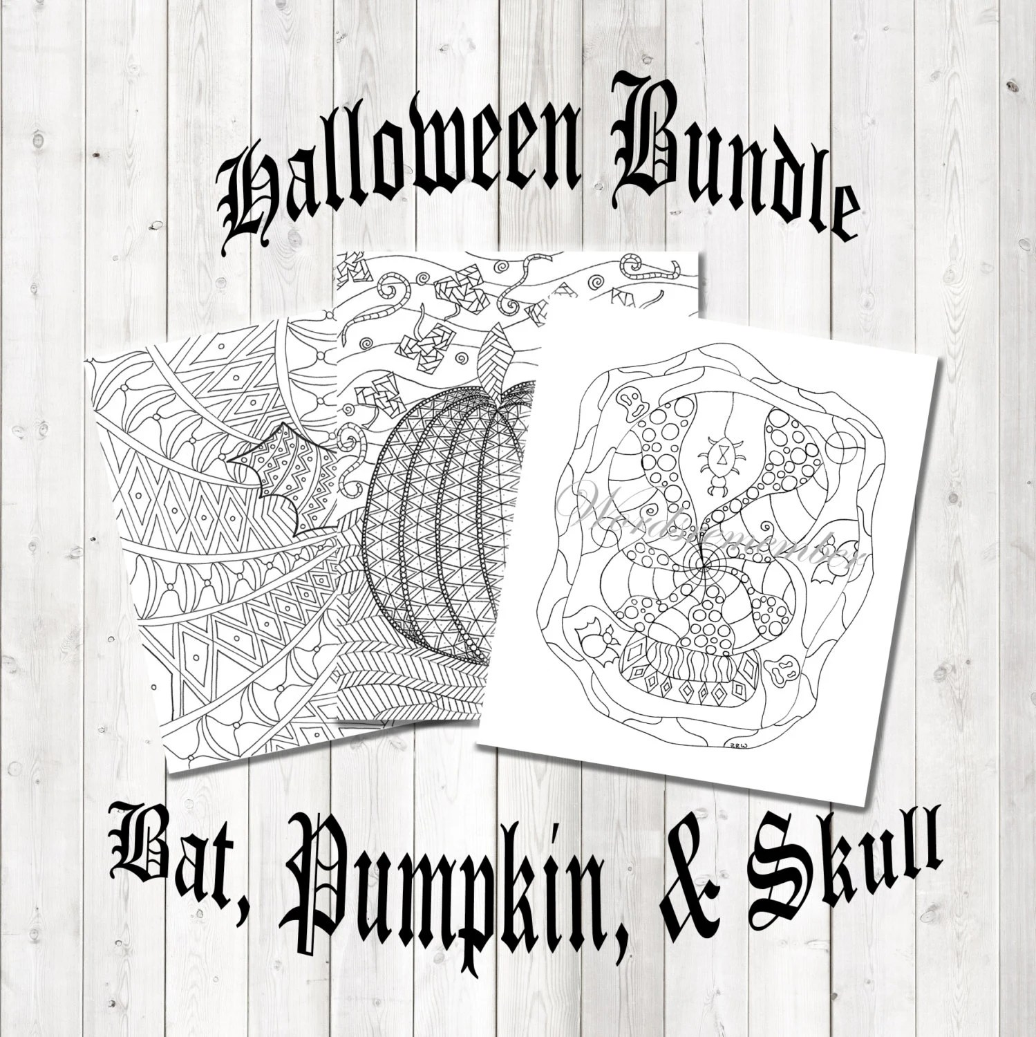 Printable Halloween Fun Halloween Coloring Page Ghoulish Etsy