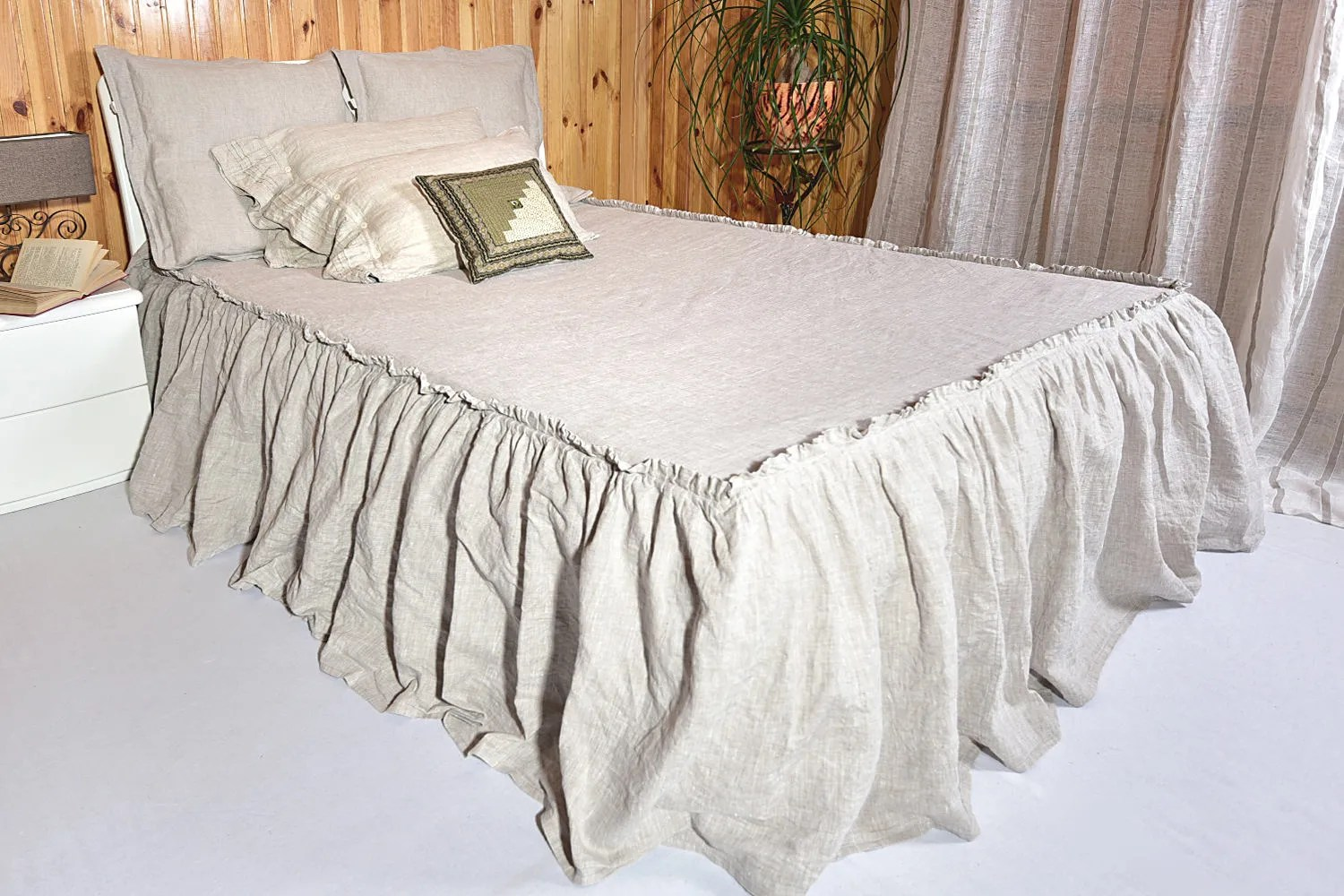 Bed Coverlet Bed Skirt Dust Ruffle Drop 28