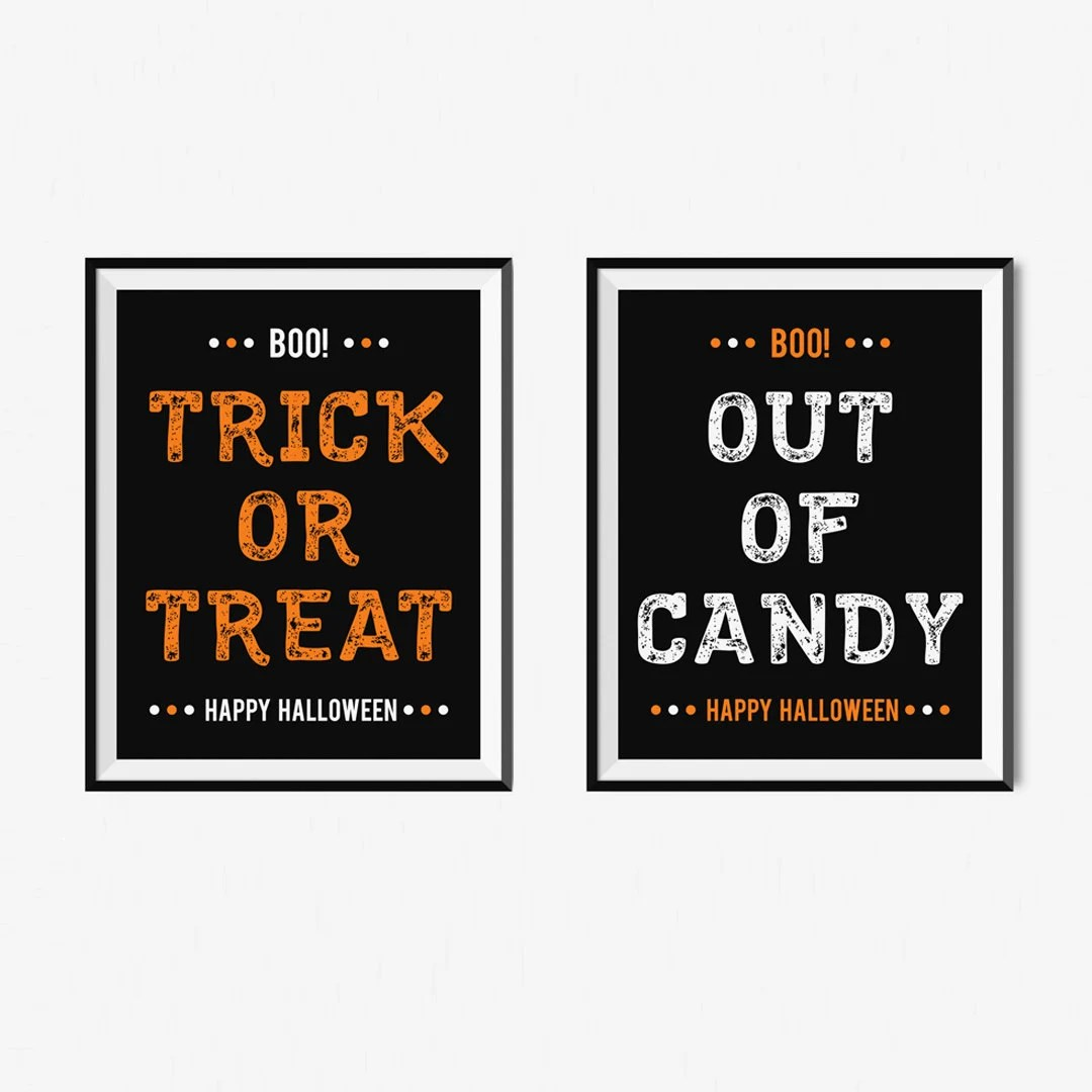 Halloween Print Printable Halloween Signs Instant Download Etsy