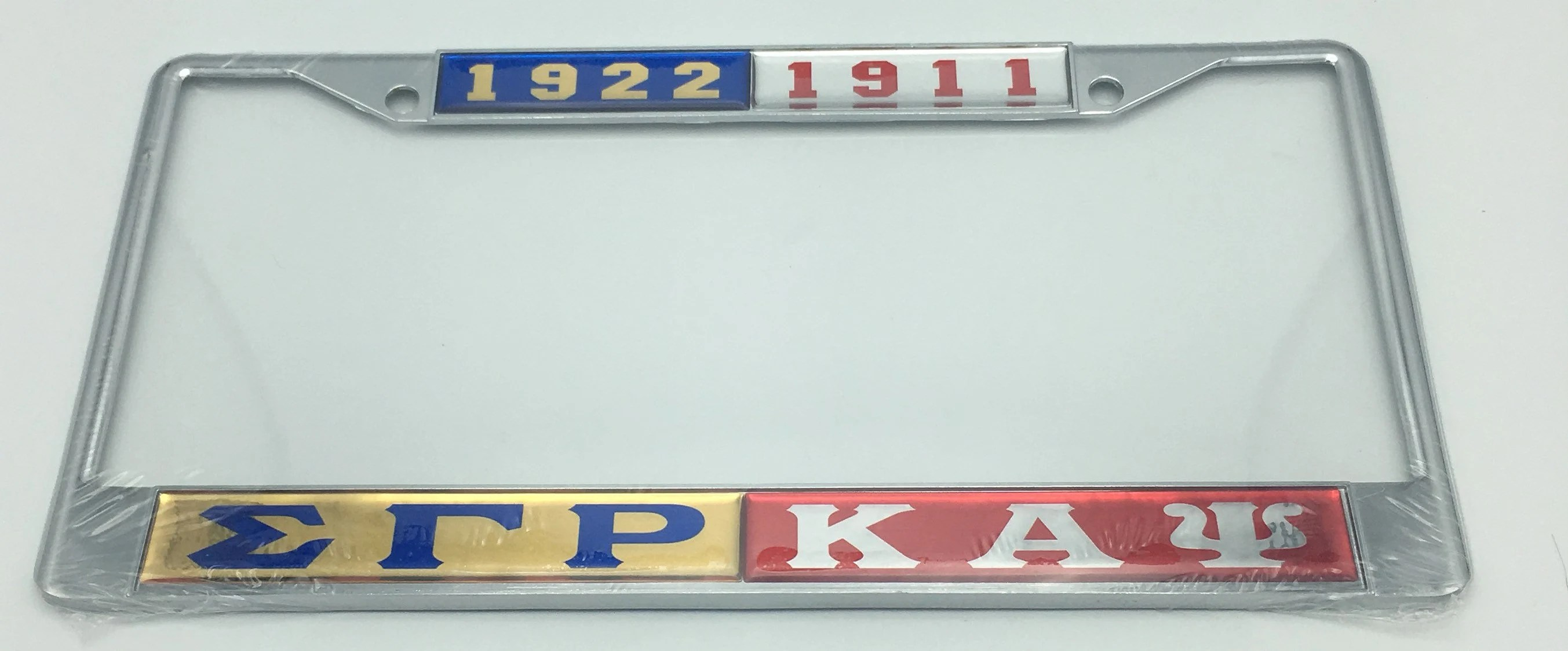 Gamma Split Sigma Gamma Rho Kappa Alpha Psi Split License Plate Fame
