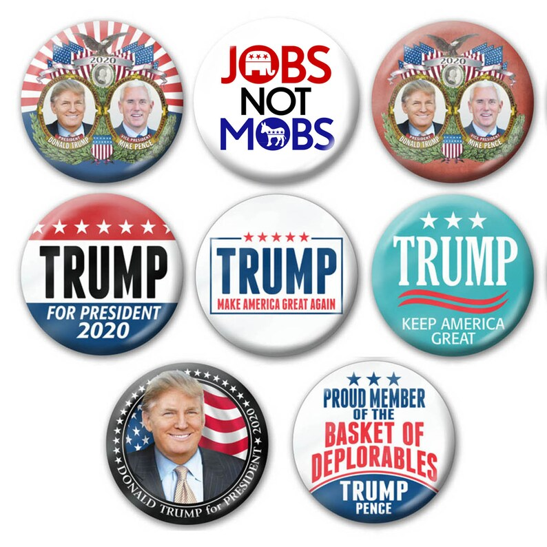8-PACK Donald Trump 2020 Buttons 3 Large Republican Etsy