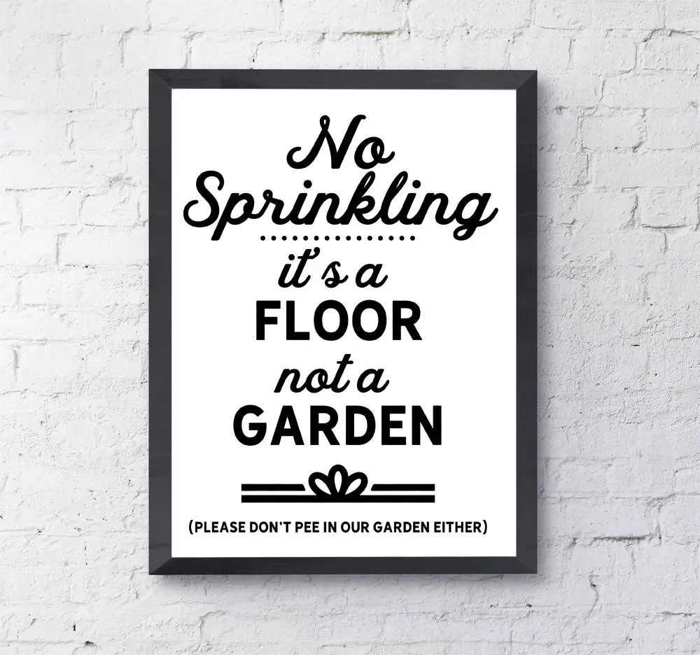 Passive aggressive restroom signs PRINTABLE instant download Etsy
