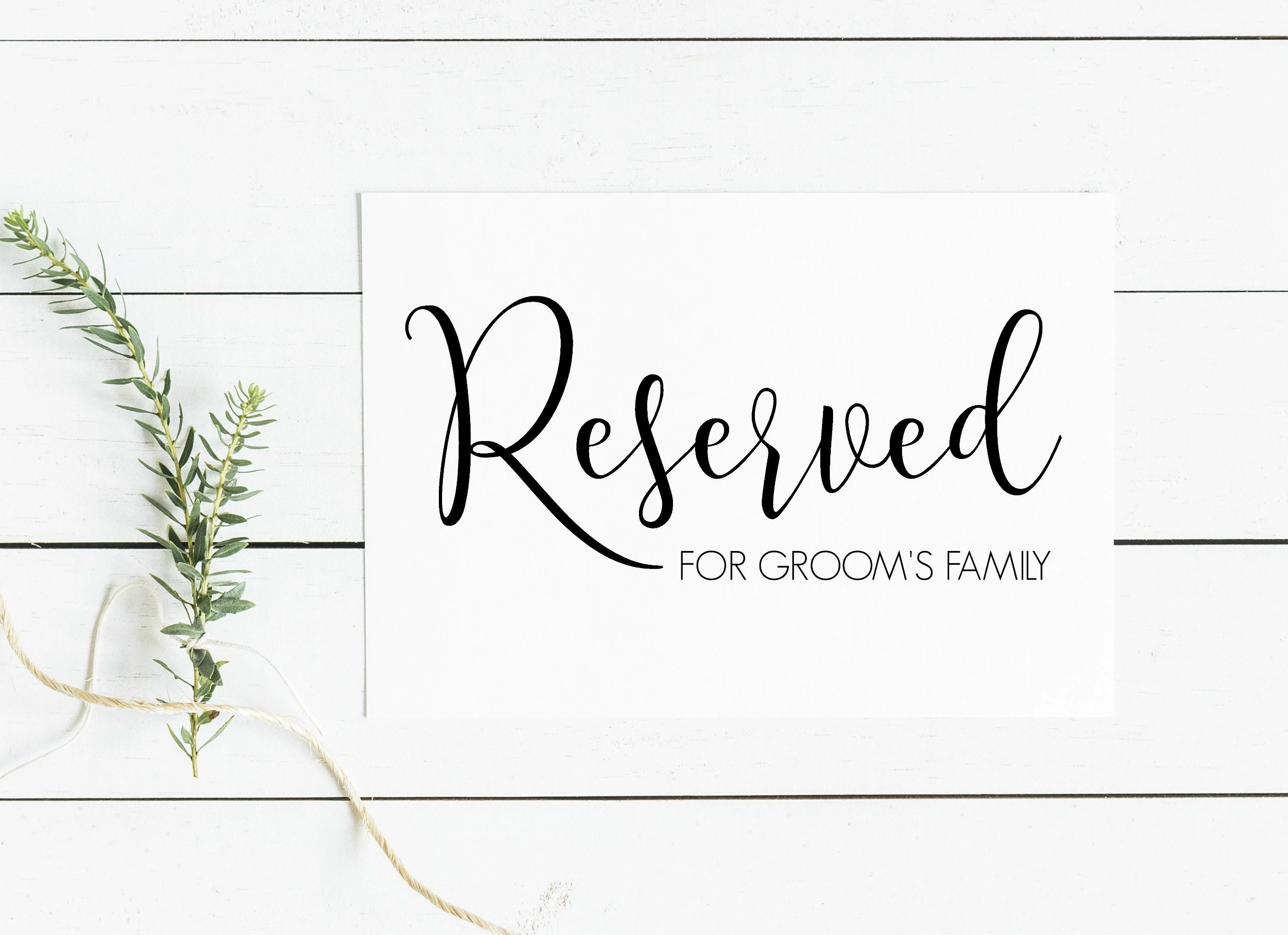 Printable Reserved Table Signs. beautiful reserved signs