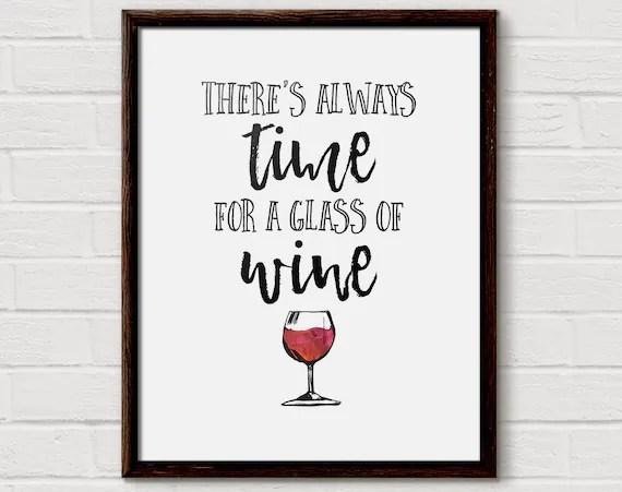 Wine Quote Wine Gift Wine Quotes Wine Poster Teacher Wine Etsy