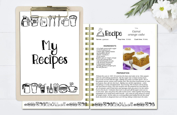recipe book template - Canasbergdorfbib