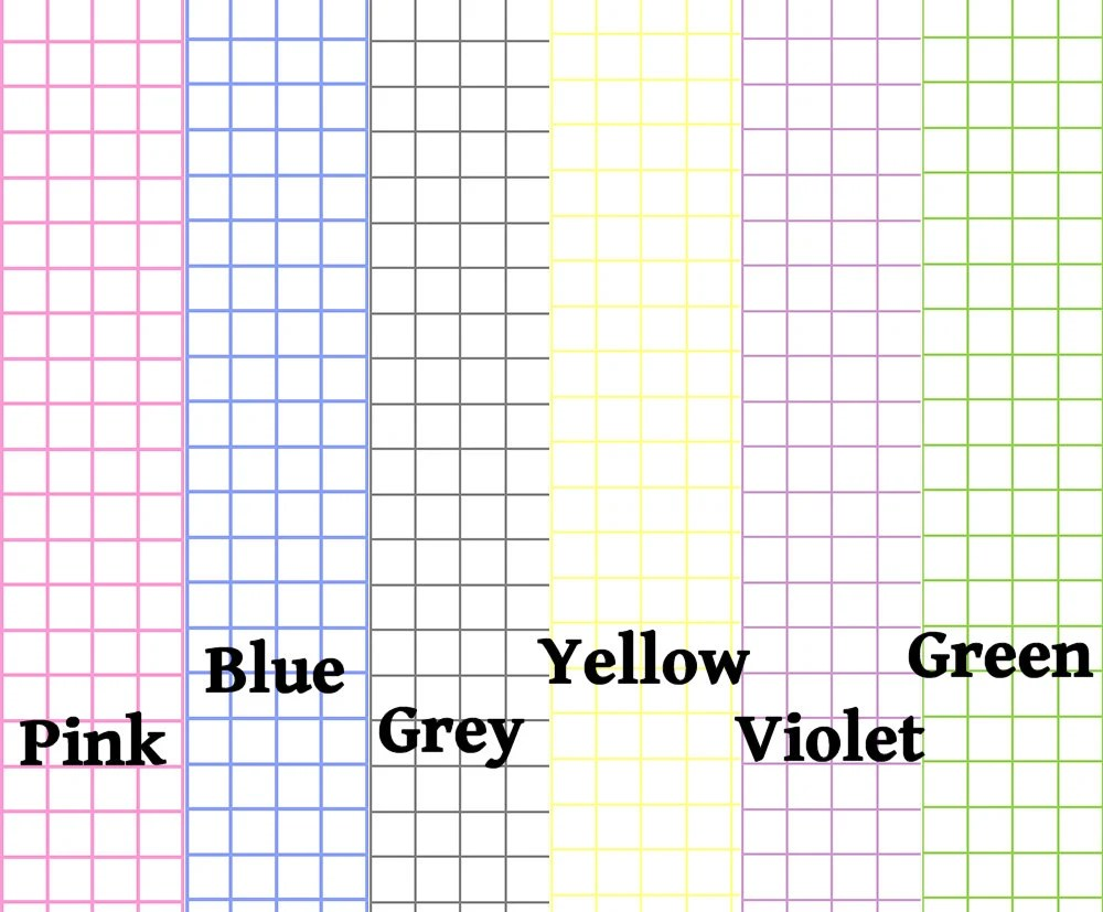 DIGITAL DL Graph Paper 1/4 spaced 6 colors Etsy