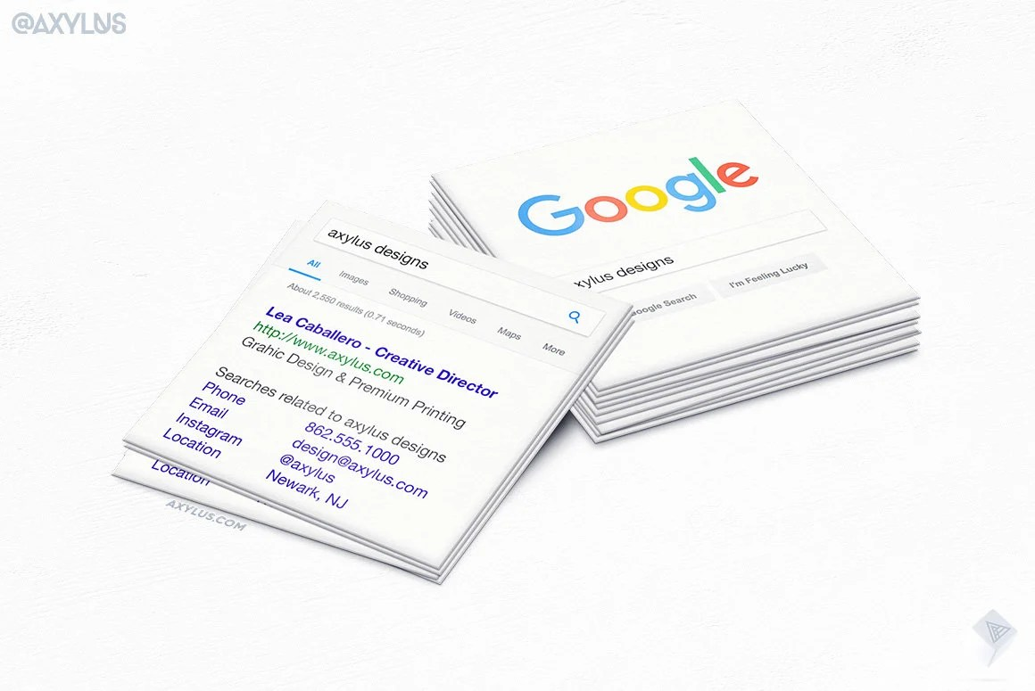 Cartes De Visite Google Carre Mini Seo Marketing Conception Et Impression 16pt Uv 250 500 1000 2500 Livraison Gratuite