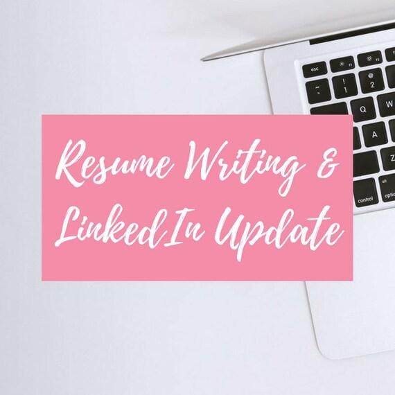 Resume Writing LinkedIn Profile Update Free Resume Etsy