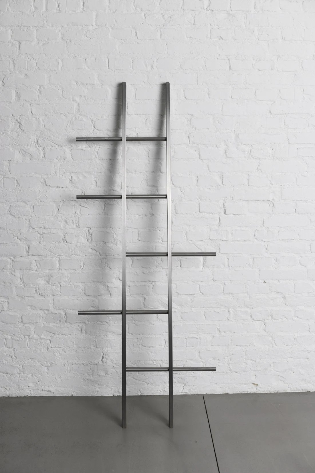 Kleiderleiter Weiß Tb 15 Clothes Towel Ladder In Stainless Steel With Oak Finishing