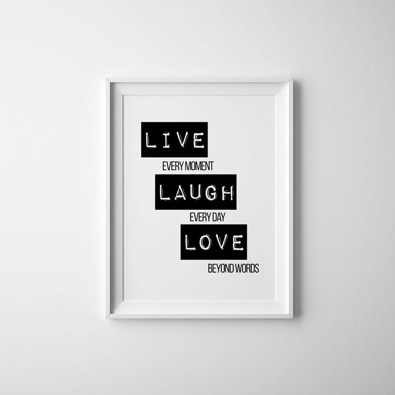 Live laugh love mentor printable tumblr room decor Etsy