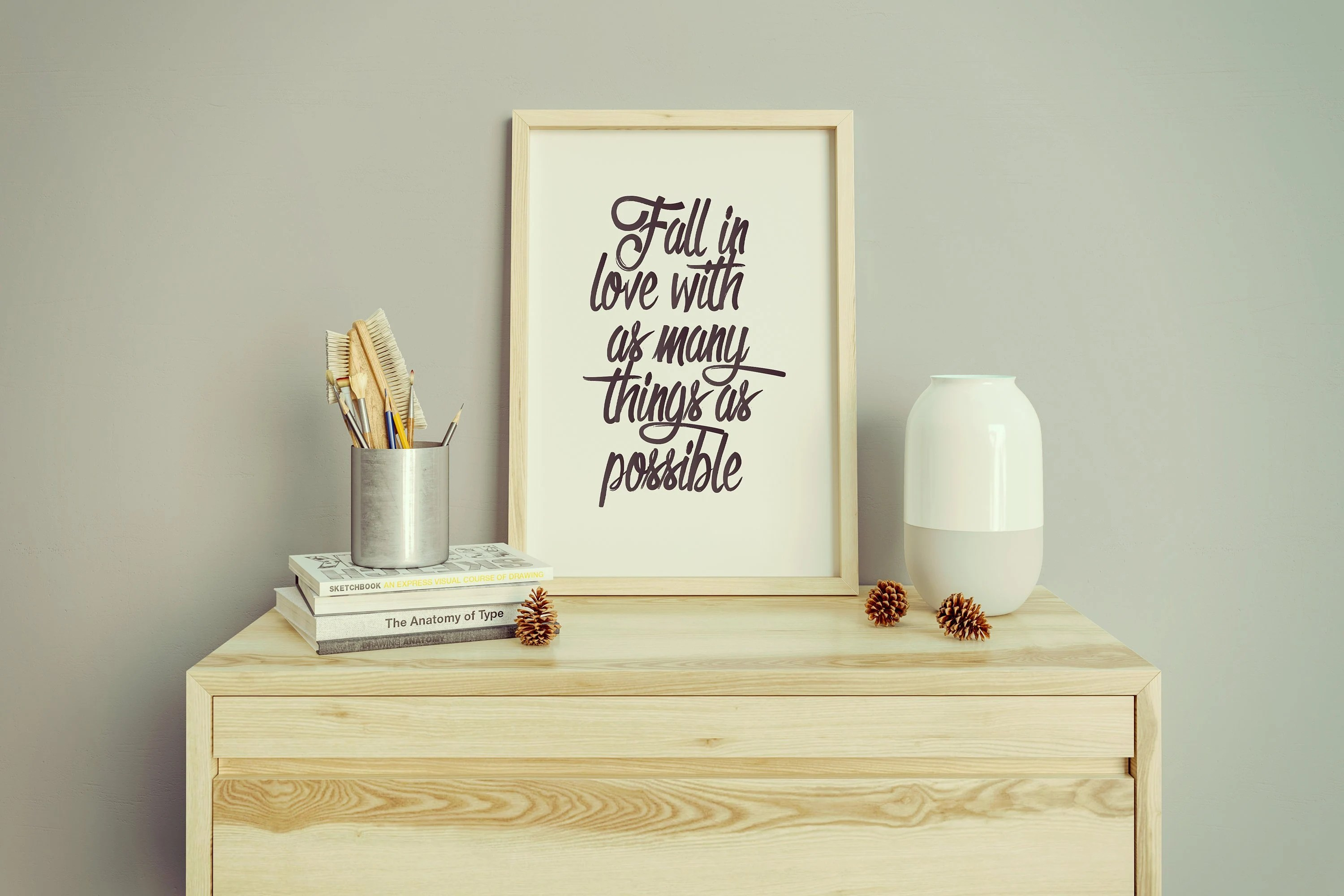 Fall in love with as many things as possible Words of wisdom Etsy