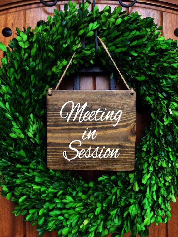 Office sign 7x8 Meeting in Session Door Sign Do Not Etsy