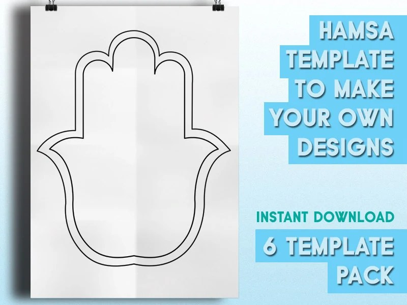 Hamsa Templates to make Your Own Designs 6 Beautiful Etsy