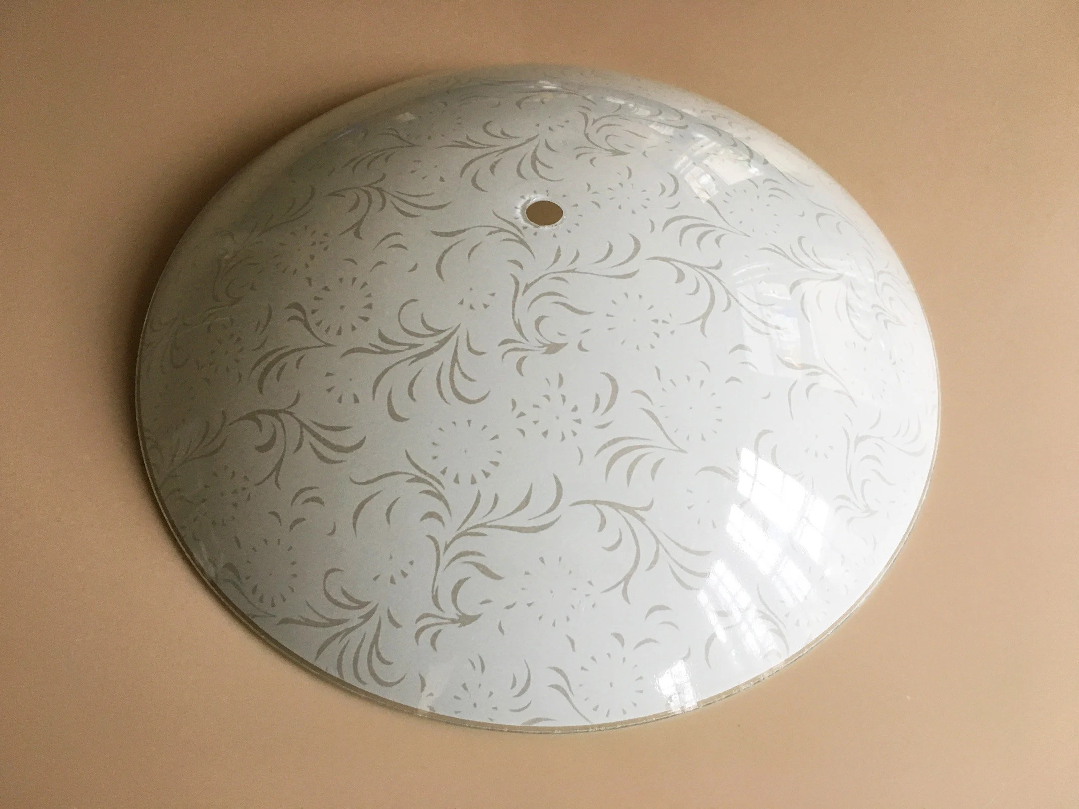 Ceiling Light Covers Ceiling Light Cover Glass Ceiling Shade Ceiling Fixture Light Fixture Vintage Light Shade Frosted Glass Shade Mid Century Light Fixture Old
