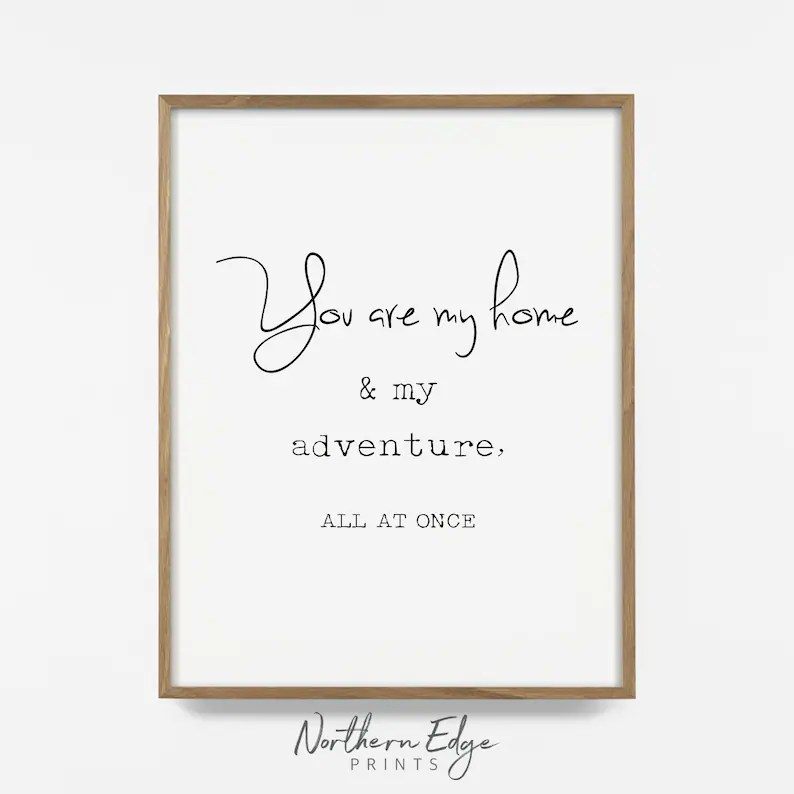 Family wall art family quote adventure quote printable Etsy