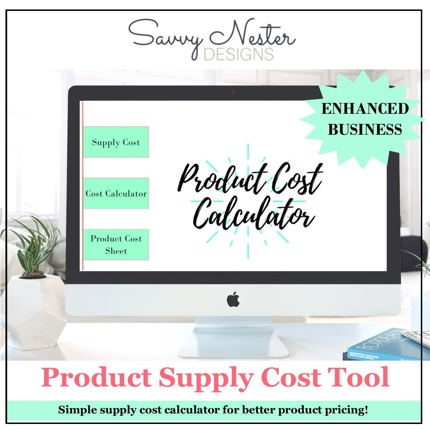Product Cost Tool expense tracker Business planner Etsy