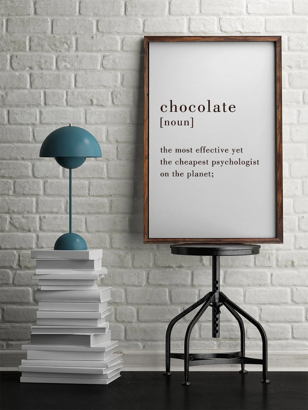 50x70 Poster Chocolate Poster 50x70 Poster Wall Art Motivational Poster Kitchen Poster Home Decor Chocolate Definition Digital Print Gift For Her