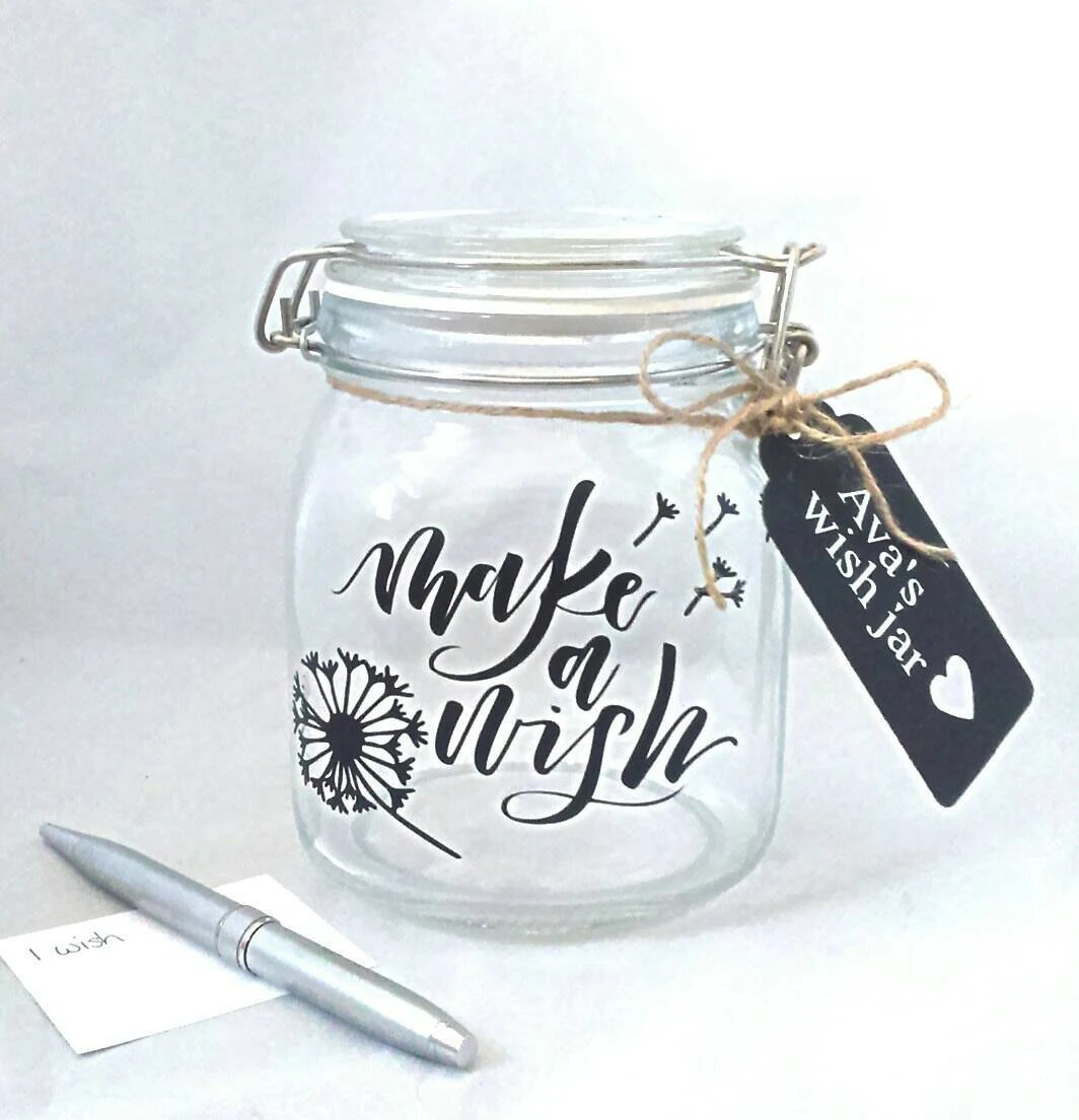 Carte Cadeau Wish Make A Wish Jar