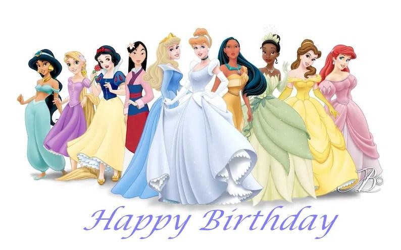 PRINCESS Birthday Card Disney Princess Instant Download Etsy