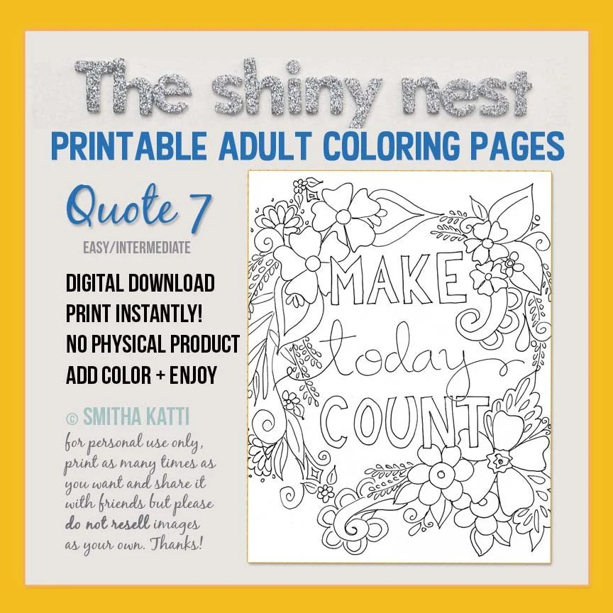 Mindfulness Colouring Printables Adult Colouring Pages Grown Etsy