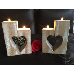 Small Crop Of Wood Candle Holders