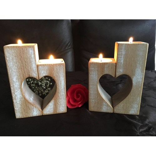 Medium Crop Of Wood Candle Holders