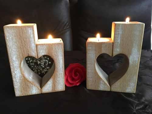 Medium Of Wood Candle Holders