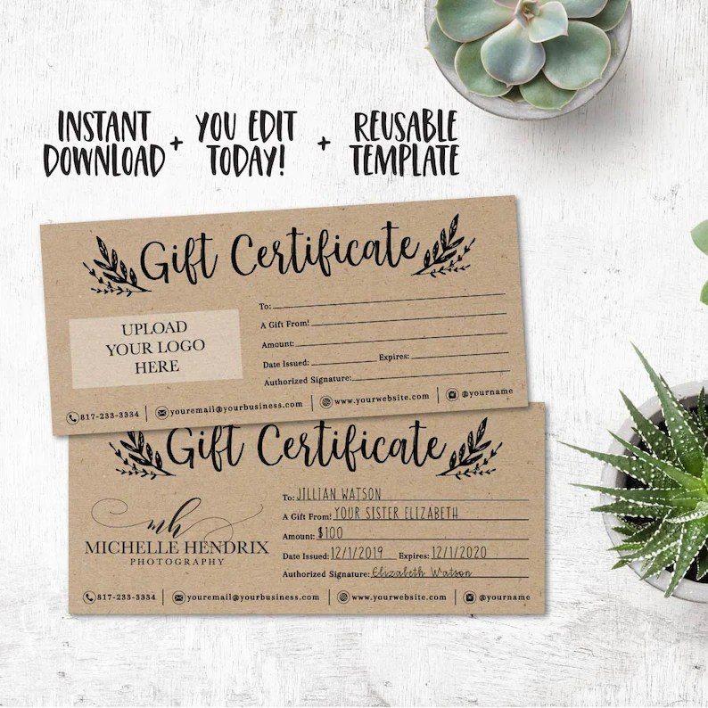 Do It Yourself Christmas Gift Certificate Template ✓ The Christmas